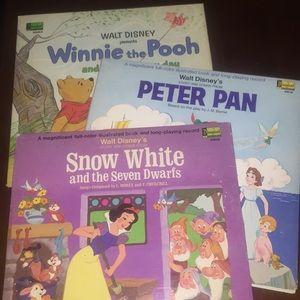 3 Vintage Walt Disney Records